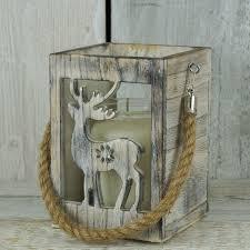 whitewashed wood lantern