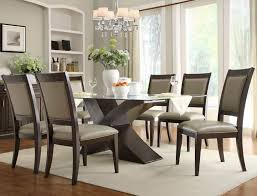 glass dining room table with leather chairs. bering rectangular glass top dining set with x base table room tables leather chairs s