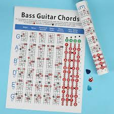 4 String Bass Guitar Chords Chart Four Strings Electric Bass Spectrum Guitar Chord Fingerboard