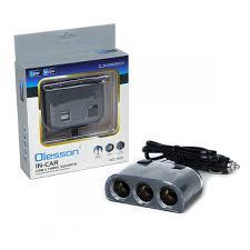<b>Разветвитель прикуривателя</b> OLESSON 1505 <b>3</b> гнезда + 2 USB с ...