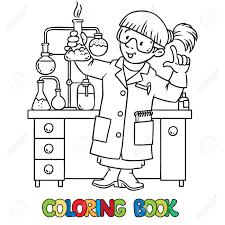 Foto Colorante O Libro De Colorear Del Qu Mico O Cient Fico