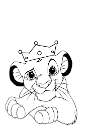 baby simba coloring pages page king with the crown and lion