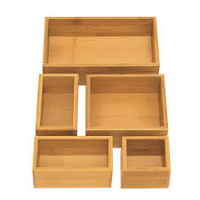 seville classics bamboo drawer organizer boxes