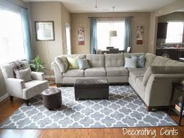 living room area rug size family room gray trellis rug sectional blue accents
