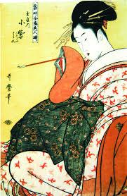 Bildergebnis für japanische holzschnitte von Geishas
