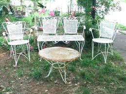 full size of steel mesh patio table round metal side furniture and decoration engaging gard set