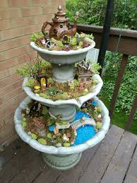 Fountain fairy garden  Gardening Go