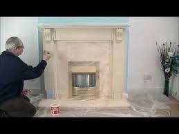 fireplace stone coating create a stone fireplace