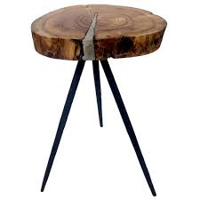 a b home round wood side table