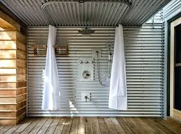 corrugated metal shower walls sheet