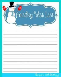 014 Printable Wish List Template Ideas Free Ulyssesroom