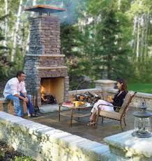 image of cozy outdoor fireplace ideas