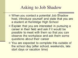 Questions To Ask At Job Shadow Senior Culminating Project Ppt Download