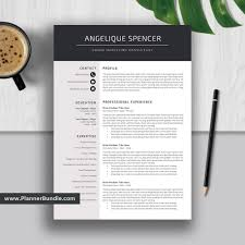 Teacher Resume Template Job Cv Template 1 2 3 Page Word Resume Design Creative And Modern Resume Cover Letter Instant Download Angelique