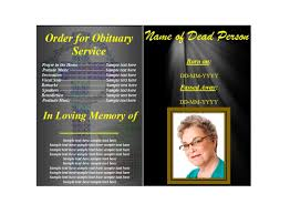Design Your Own Funeral Program 47 Free Funeral Program Templates In Word Format