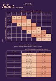 Siluet Size Chart Shapewear And Waist Cinchers For Women