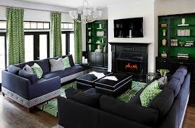 custom green color used to enliven the contemporary living room design kristin drohan collection