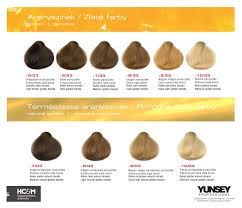 Yunsey Color Chart Yunsey Hair Color Natural Goldens In 2019 Hair Color