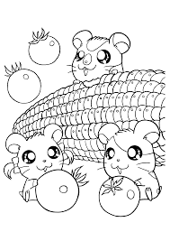 Coloring Pages Of Food With Faces Fun Coloring