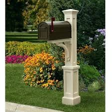 Mailbox And Post St Mailbox Post Wood Mailbox Posts Vinyl Mailbox