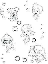 Bubble Guppies Coloring Pages Nick Jr Coloring Online Coloring Pages