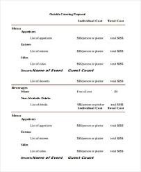 Catering Proposal Letter Cool 44 Catering Proposal Templates Free Samples Examples Formats