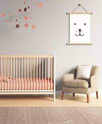 Navy Blue Nursery Accent Wall Gold ...