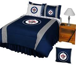 nhl winnipeg jets bedding set hockey bed full