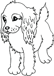pound puppies coloring pages of spaniel puppy page printable