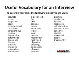 Adjectives To Put On Resume Describing Words For Resumes April New Good Adjectives For A Resume