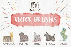 free watercolor brushes illustrator essential vector brushes with a free sample on behance