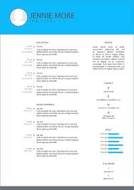 Easy Cv Template Free Resume Example