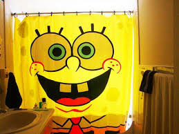 cute spongebob squarepants comic book shower curtain ideas of