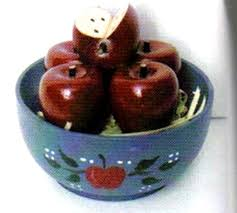 details about 2 5 x 2x2 5 wood country mini apple bowl wooden shelf sitter apples decor sign