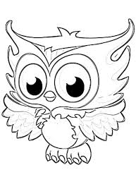 Small Picture Coloring Page Of An Owl Christmas Owl With Gift Boxes