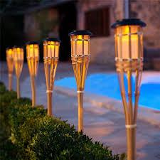 tiki lighting. Interior, New Outdoor Tiki Lights Thrisdar 8PCS Solar Garden Torch Path  Lawn: Tiki Lighting D