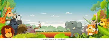 jungle animal background. Brilliant Background Wildlife African Animals Background Cute Cartoon Wild Animals From African  Savannah With Lion Intended Jungle Animal Background S