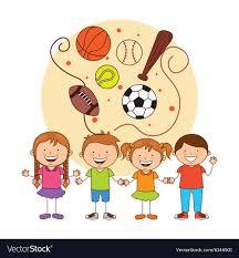 Kids sports Royalty Free Vector Image - VectorStock