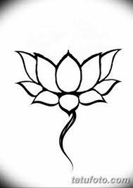черно белый эскиз тату рисункок лотос 11032019 058 Tattoo