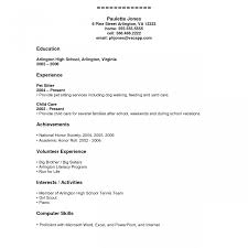 Teenage Resume Resume Template Stunning Teenage Builder High School Student 100