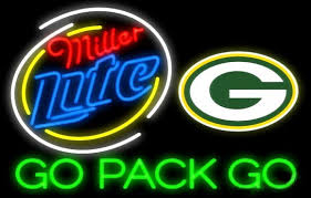 Miller Lite Packers Neon Sign Miller Lite Green Bay Packers Go Pack Go Real Neon Glass Tube Neon 2