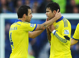 Image result for diego costa and fabregas