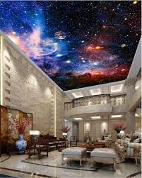 3d Ceiling Design Wallpaper Details About Space Galaxy Nebula Full Wall Ceiling Mural