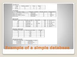 database assignment help example of a simple database
