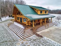 Grand Designs New Zealand Log House Spectacular Log Cabin On 51 Acres Michigan Luxury Homes