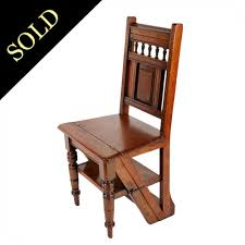 antique library chair victorian metamorphic steps