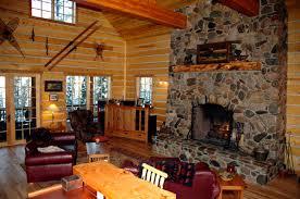 Living Room:Simple Country Home Log Living Room Decor Idea Living Room  Design With Log