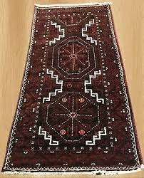 authentic hand knotted antique persian zaidan balouch wool area rug 4 x 2 4454