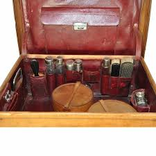 men s leather toiletry travel valise