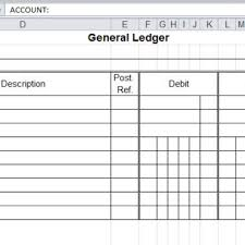 accounting ledger template accounting general ledger template archives word templates